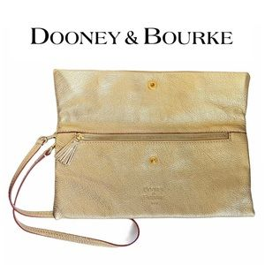 Dooney & Bourke Metallic Gold Wrist/Shoulder Bag